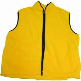 Gilet polaire jaune